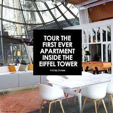 eiffel tower interior the first ever apartment inside the eiffel tower