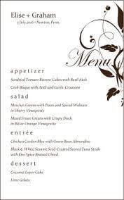 menu templates for weddings wedding menu wedding archive