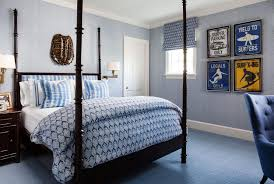 Brown And Blue Bedding by Island Retreat Mccann Design Group
