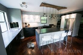 walnut modern kitchen kitchen the final reveal
