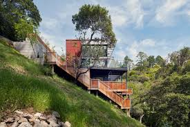 Modern House California What Does A Modern House Look Like On A Hillside Of Mill Valley In