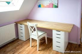 construire bureau fabriquer un bureau avec un plan de travail ou beau grand bureau a