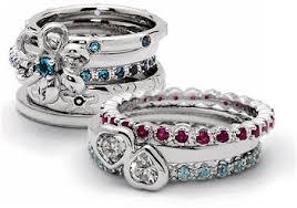stackable mothers rings stackable mothers rings birthstone eternity rings