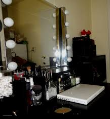 professional makeup stand makeup stand with lights and mirror lovely furniture black stained