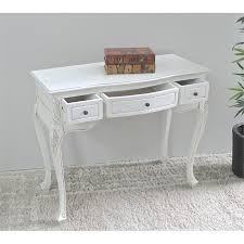 Bobkona St Croix Collection Vanity Set With Stool White Antique White Hand Carved Vanity Desk 3979 Aw