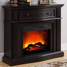 Fireplace Storage by Electric Fireplace With 44