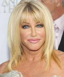 how to cut your own hair like suzanne somers suzanne somers medium straight casual hairstyle with layered bangs