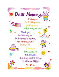 dear mommy greeting card mother u0027s day printable card
