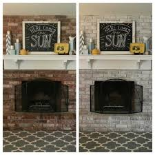 White Washed Stone Fireplace Life by Fireplace Brick Option Maybe Whitewash Instead Of Painting It