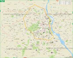 Hyderabad India Map by Delhi City Large Map