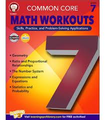 common core math workouts resource book grade 7 carson dellosa