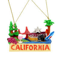 california souvenirs for snow globes ornaments and statues