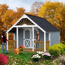 amazon com best barns garden shed 12 u0027 x 16 shed kit plus 4 u0027 porch