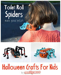 mollymoocrafts halloween crafts for kids toilet roll spiders