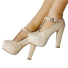 wedding shoes ivory ivory lace heels t wedding shoes chunky heel pumps for