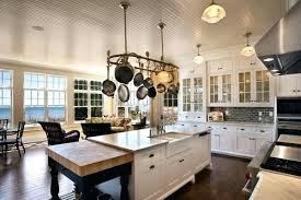 kitchen island hanging pot racks kitchen island with pot rack kitchen island pot rack lighting