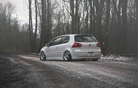 stanced volkswagen golf wallpapers volkswagen golf gti stance white auto back view