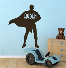 online buy wholesale superhero wall decals from china superhero personalized name wall decals sport superhero decal boy nursery decor os1481 free shipping china
