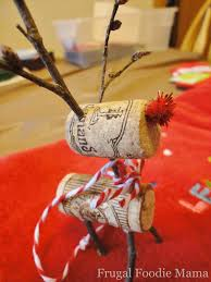 frugal foodie wine or cork rudolph ornament tutorial