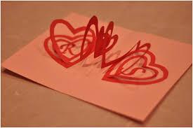 valentine u0027s day pop up card spiral heart creative pop up cards