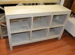 cedarwood whitewash bookcase bookshelf cube storage low 6 cube