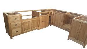 meuble de cuisine brut à peindre meuble cuisine en bois brut facade meuble cuisine bois brut
