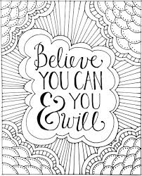 printable page of quotes printable colouring pages quotes adult coloring with free book page