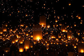 candle balloon new year candles lantern balloon traditional stock photo image