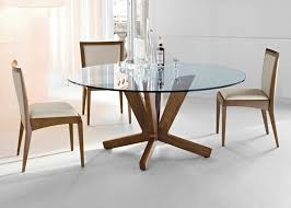 furniture dazzling round glass dining table glass round dining