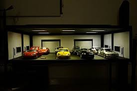 display case led lighting systems model car display case miniature garage display case with led lights