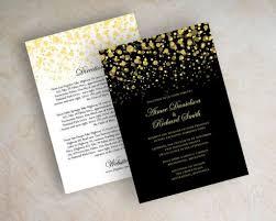 Simple Wedding Invitation Card Designs Black Gold Wedding Invitations Card Design Ideas Wedding Decor Theme