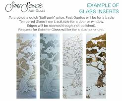 Interior Doors Frosted Glass Inserts by Etched Glass Frosted Glass Decorative Custom Glass
