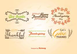 thanksgiving labels caligraphic thanksgiving labels free vector stock