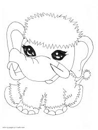 abbey u0027s pet shiver baby mammoth coloring page