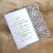 thermography wedding invitations laser cut wedding invitation bohemian lace gatefold a9
