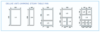 6 steam table pans stainless steel steam table pans