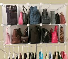 bedroom purse storage closet organizer with different size