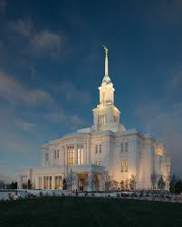 Lds Temples Map Payson Utah Temple During The Evening