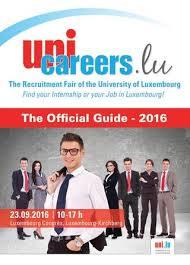 unicareers lu the unique recruitment fair of the of the official guide unicareers lu 2016 by moovijob issuu