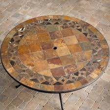 Mosaic Patio Furniture Alfresco Home Palazetto 60 Inch Mosaic Patio Dining Table Alh338