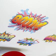 comic book words wall sticker set by mirrorin notonthehighstreet com comic book words wall sticker set