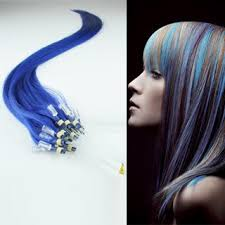 blue hair extensions 24 0 7g pc micro rings loop hair remy human hair extensions blue