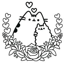pusheen coloring pages getcoloringpages