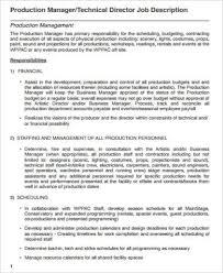 business owner job description for resume production manager job description production job description
