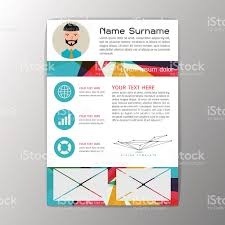Resume Background Image Modern Brochure Business Flyer Design Resume Template Abstract