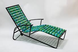 tubular steel patio reclining lounge chair by samsonite for sale