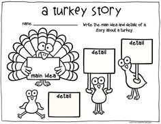 november thanksgiving writing activities and turkey craft great