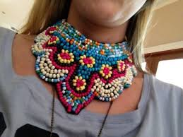 beaded collar necklace jewelry images Jewels boho tribal beaded collar boho choker handmade jpg
