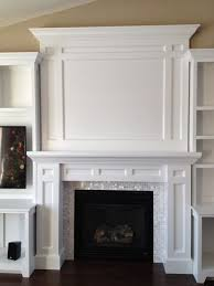 White Fireplace Entertainment Center by Diy Built In Fireplace Surround Tv Over Fireplace Pinterest