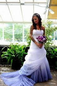 dip dye wedding dress shopzters a new trend to look out for dip dyed wedding gowns